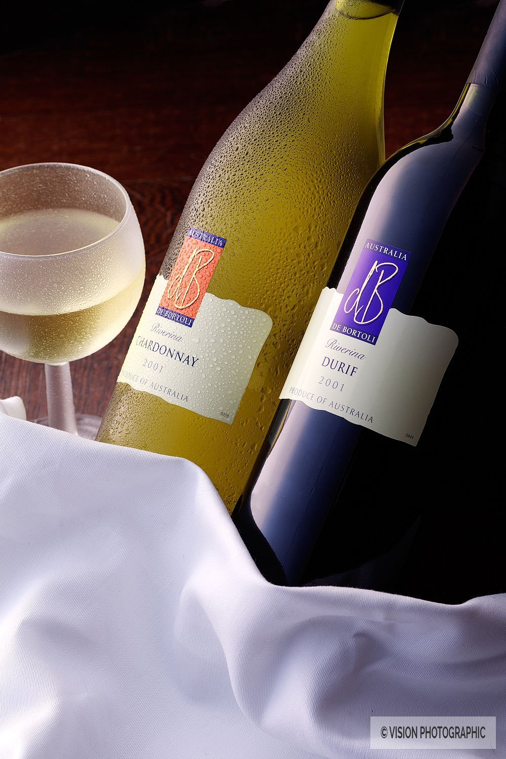 Wine bottle photography for advertising