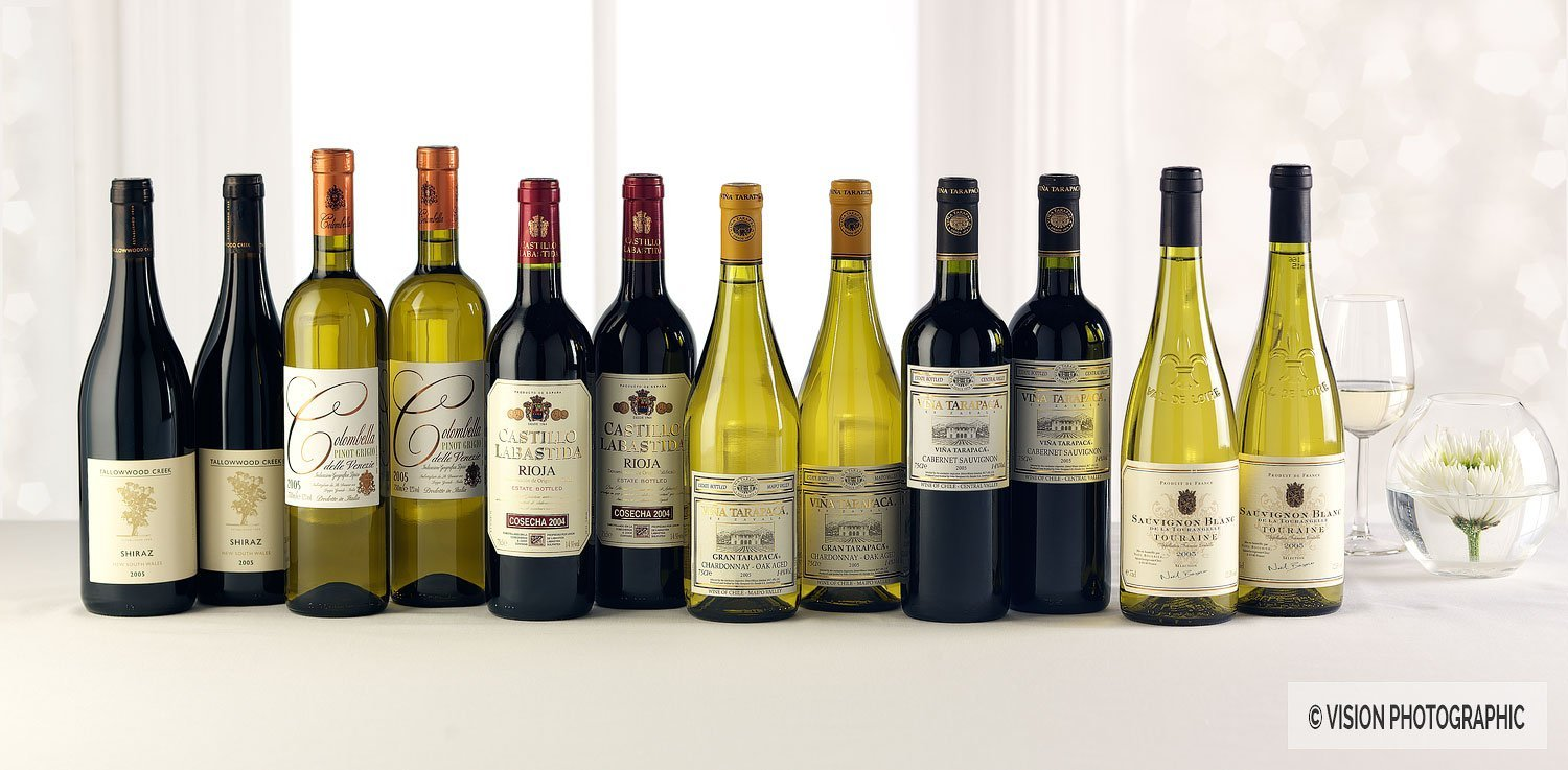 Wine bottle photography for Direct Wines