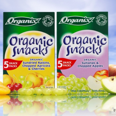Food packaging photography for Organix