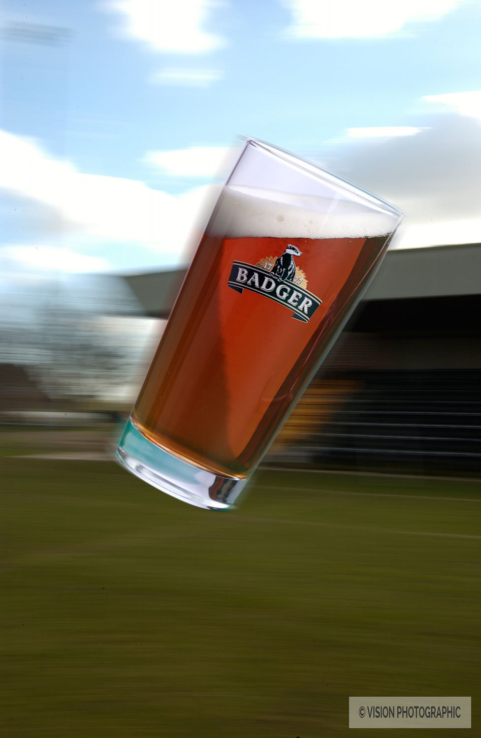 Rugby themed beer photography for Hall & Woodhouse