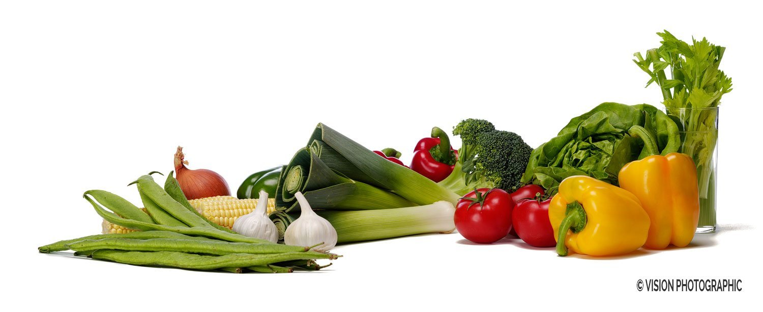 Raw food ingredient photography