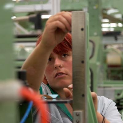 Worker image taken in factory