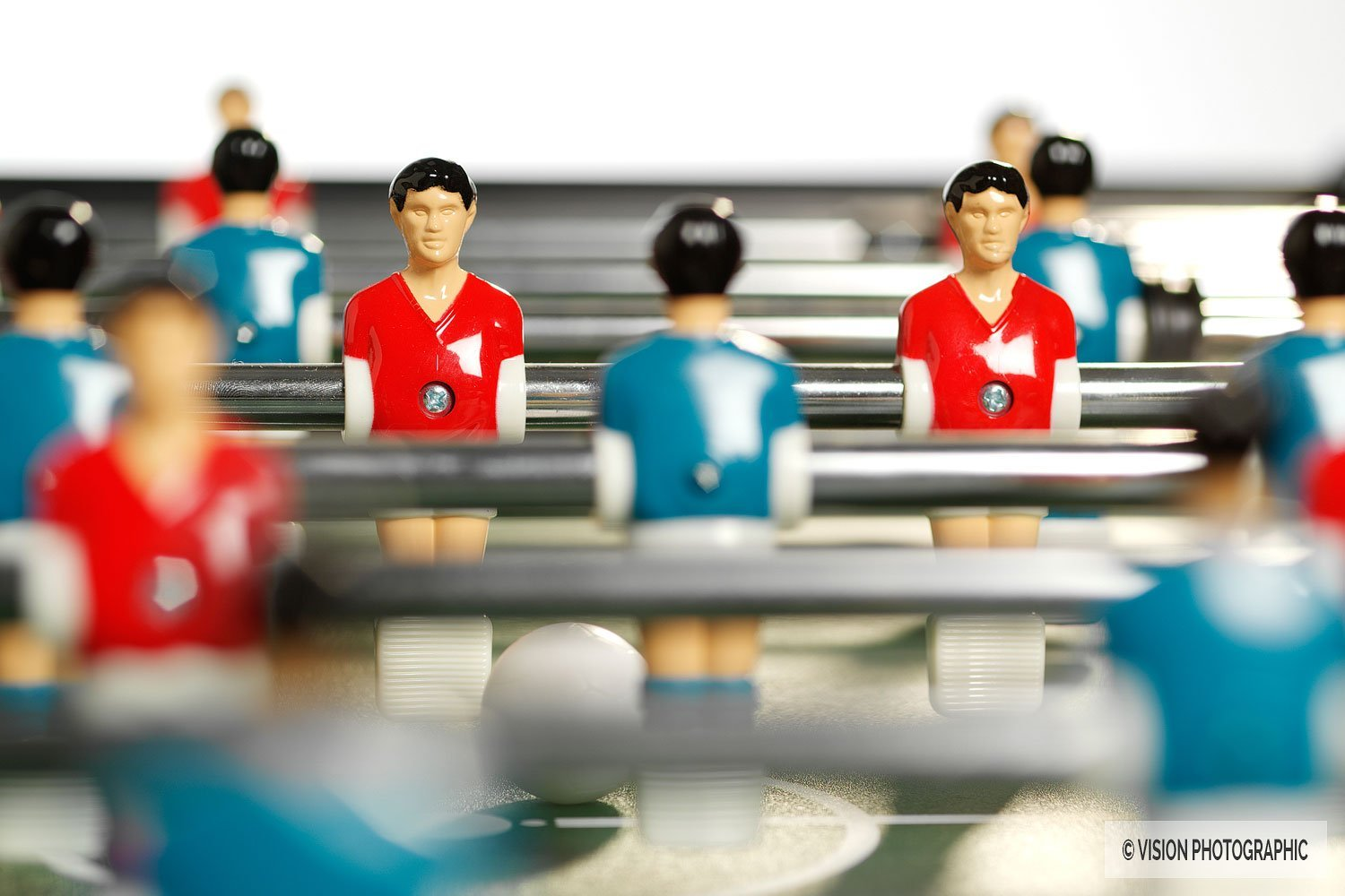 still life photography of table football