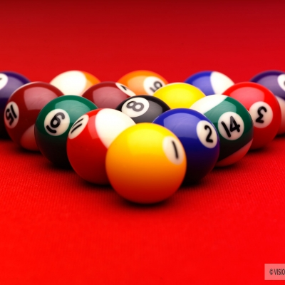 Pool balls still life image