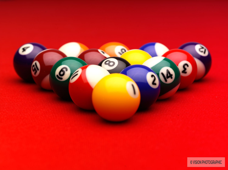 Pool balls still life image