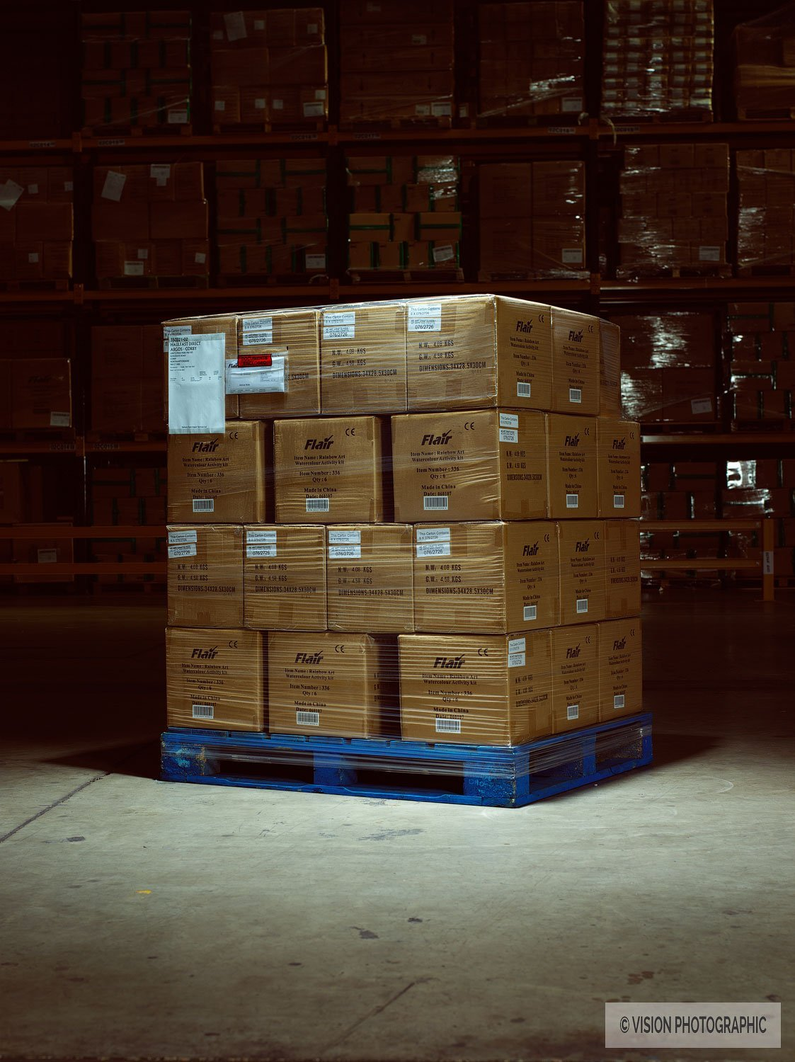 Advertising photo for a logistics company
