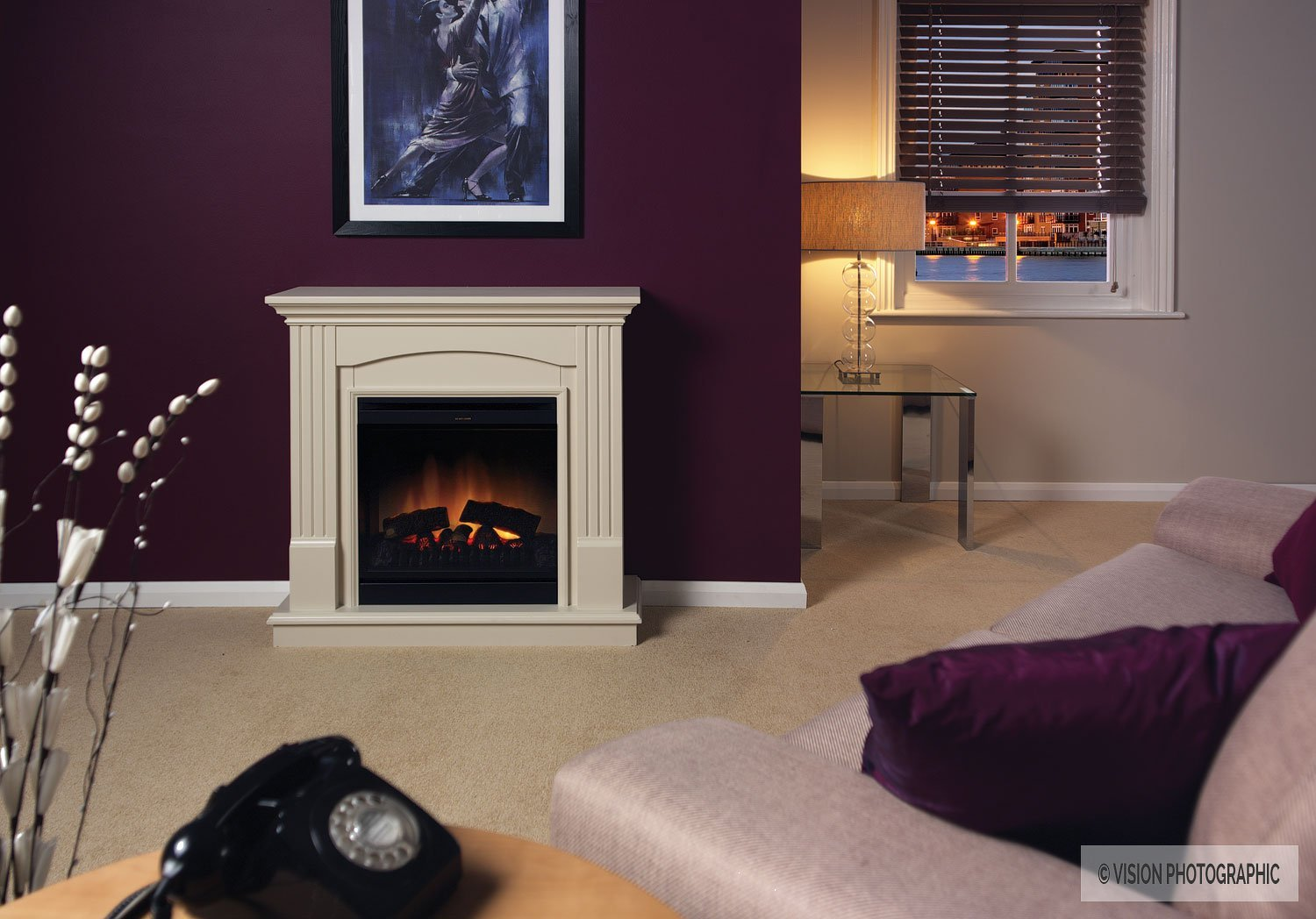Room set photography for Dimplex