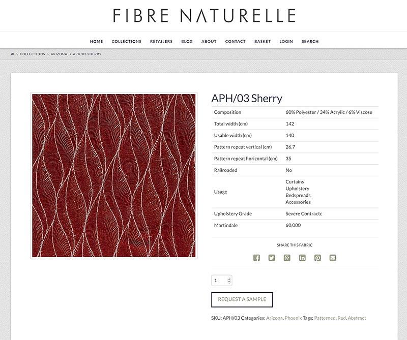 Fibre Naturelle product order
