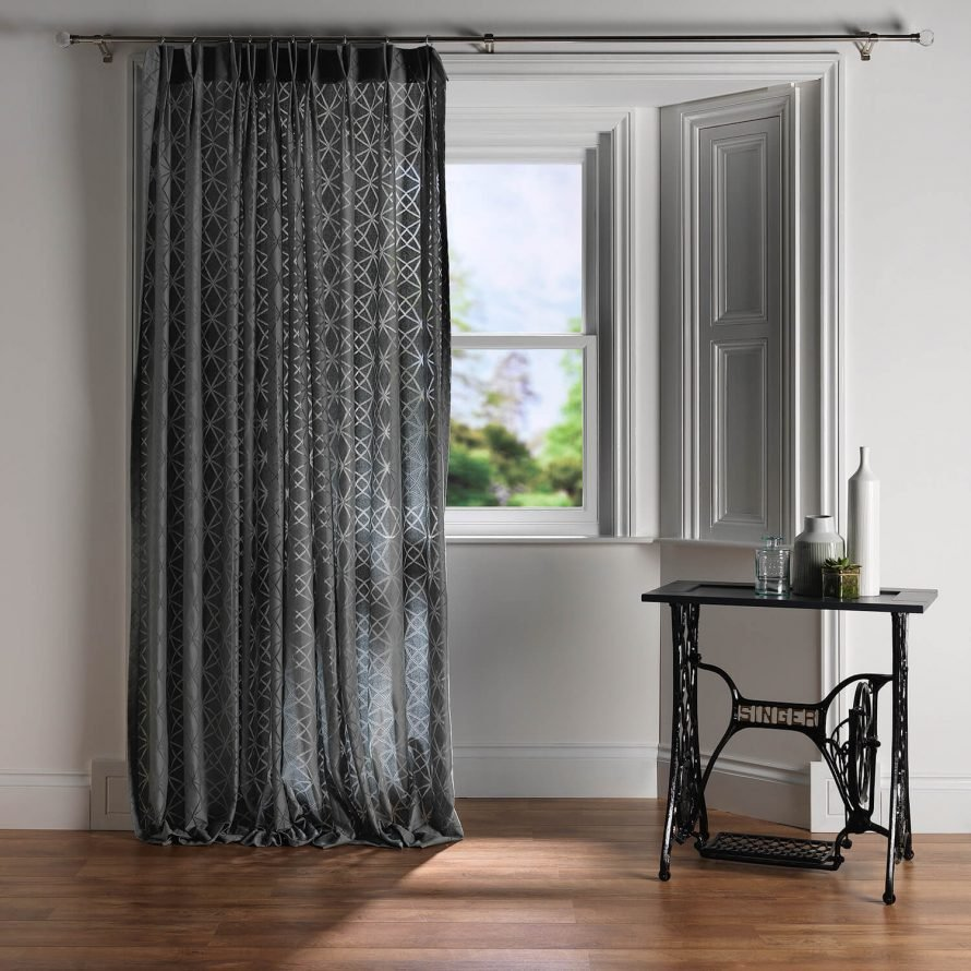 Net curtain in bay window