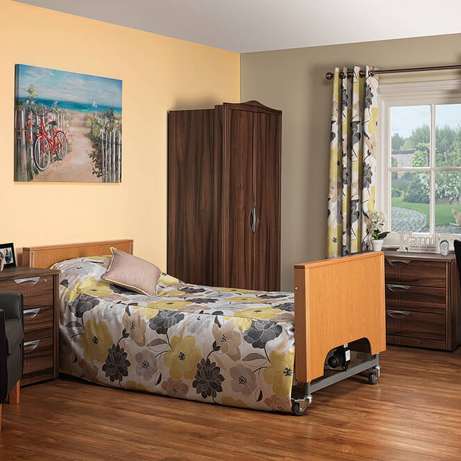 Bedroom suite for nursing home supplier
